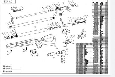 Artemis M22 Explosionszeichnung