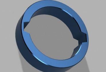 Montagering aus PLA für Hawke Sidewinder 30 und kompatible. Ersetzt den Gummiring.