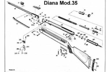 Explosionszeichnung Diana35