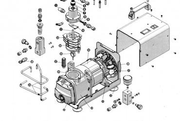 Yong Heng Kompressor Explosionszeichnung