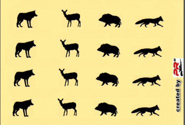 Tierscheibe Wild