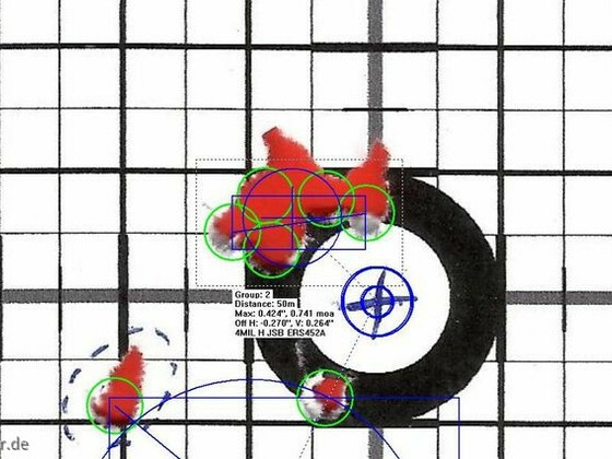Munitionstest, FWB300S, 50m, JSB ERS452, 27.07.2012 (1)