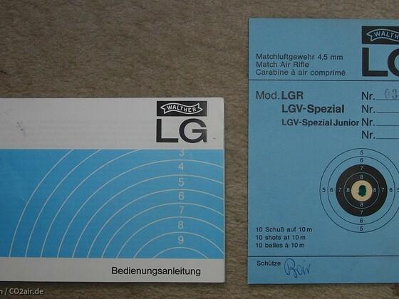 Werksschußbild Walther LGR