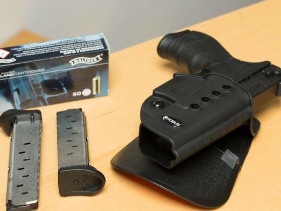 Die Walther PK380 im passenden Schnellzieh-Holster GL-2 ND von Fobus