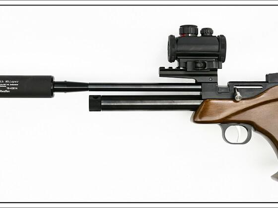 Luftdruckpistole GSG CP1-M mit Schalldämpfer