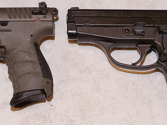 [Größenvergleich] Röhm RG 88 - Walther P22Q - Sig Sauer P239 - Walther PK380