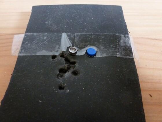 Dämmung aus Hartgummiplatten 2 1. Schicht 4mm
