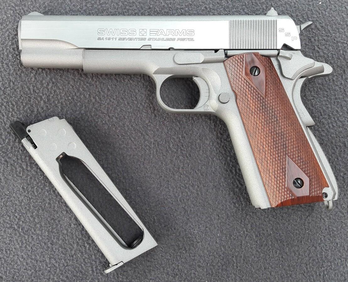 SwissArms SA 1911 Seventies Stainless Pistol