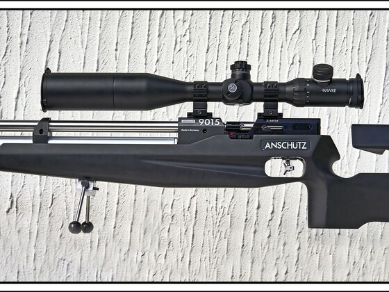 "Anschütz ""9015 Black Air"", Hawke ZF (#13310) 4-16X50 SF, verstellbare Schaftkappe und Schaftbacke, MEC Bi-pod"