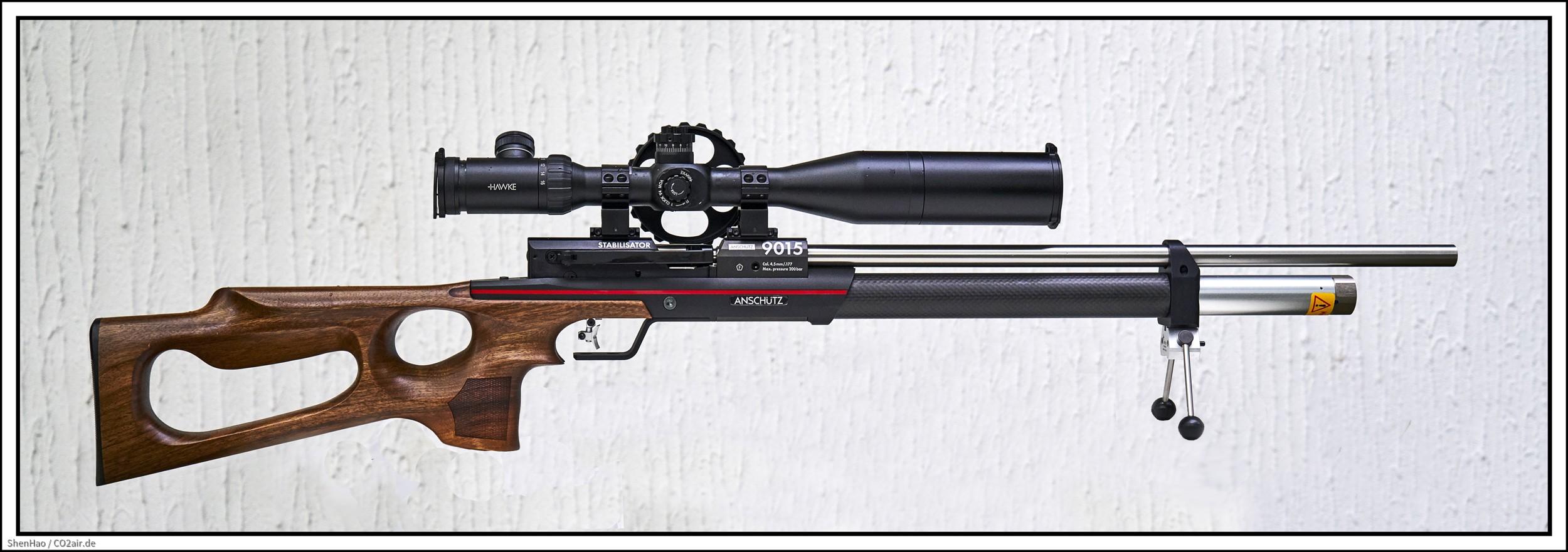 Anschütz 9015 ONE Hunting mit Hawke ZF #13310, 4-16X50,  Airmax 30 SF,  MEC Bi-pod