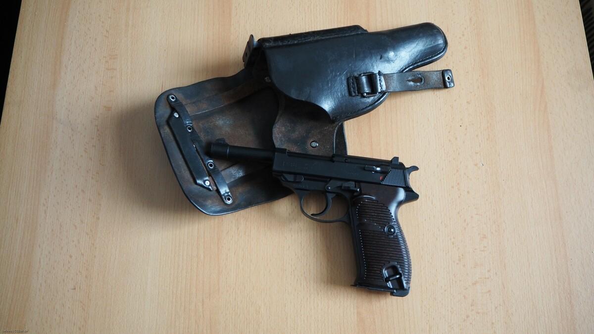 Walther P38 CO2 in Originaltasche