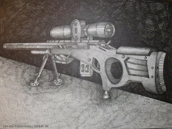 Luftgewehr Entwurf