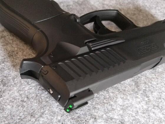 umarex T4E HDP 50 - Signalstift in der Pistole zeigt an, dass kein Gasdruck vorhanden ist
