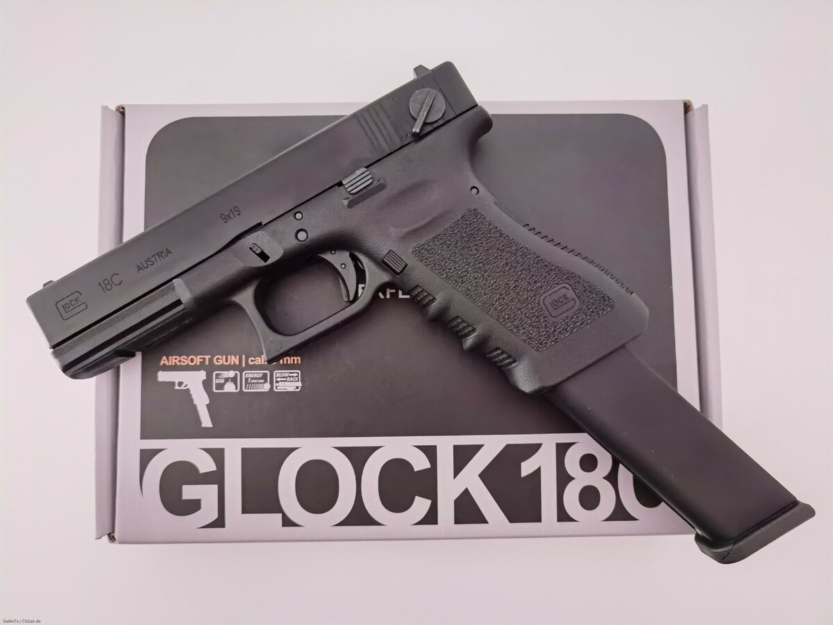 VFC Glock 18C Gen. 3, GBB, 6mm BB