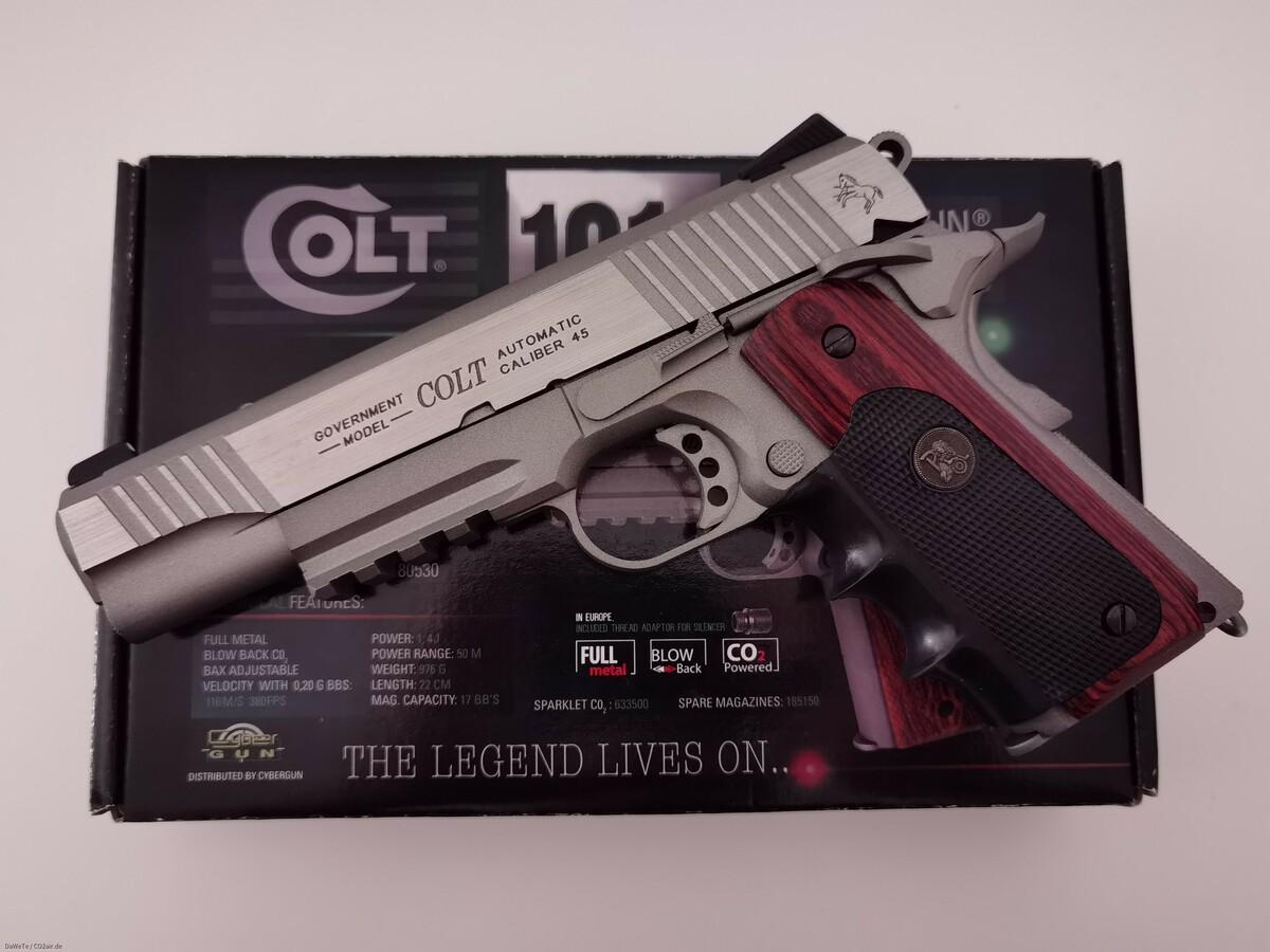 KWC Colt Railgun Stainless, CO2, 6mm BB