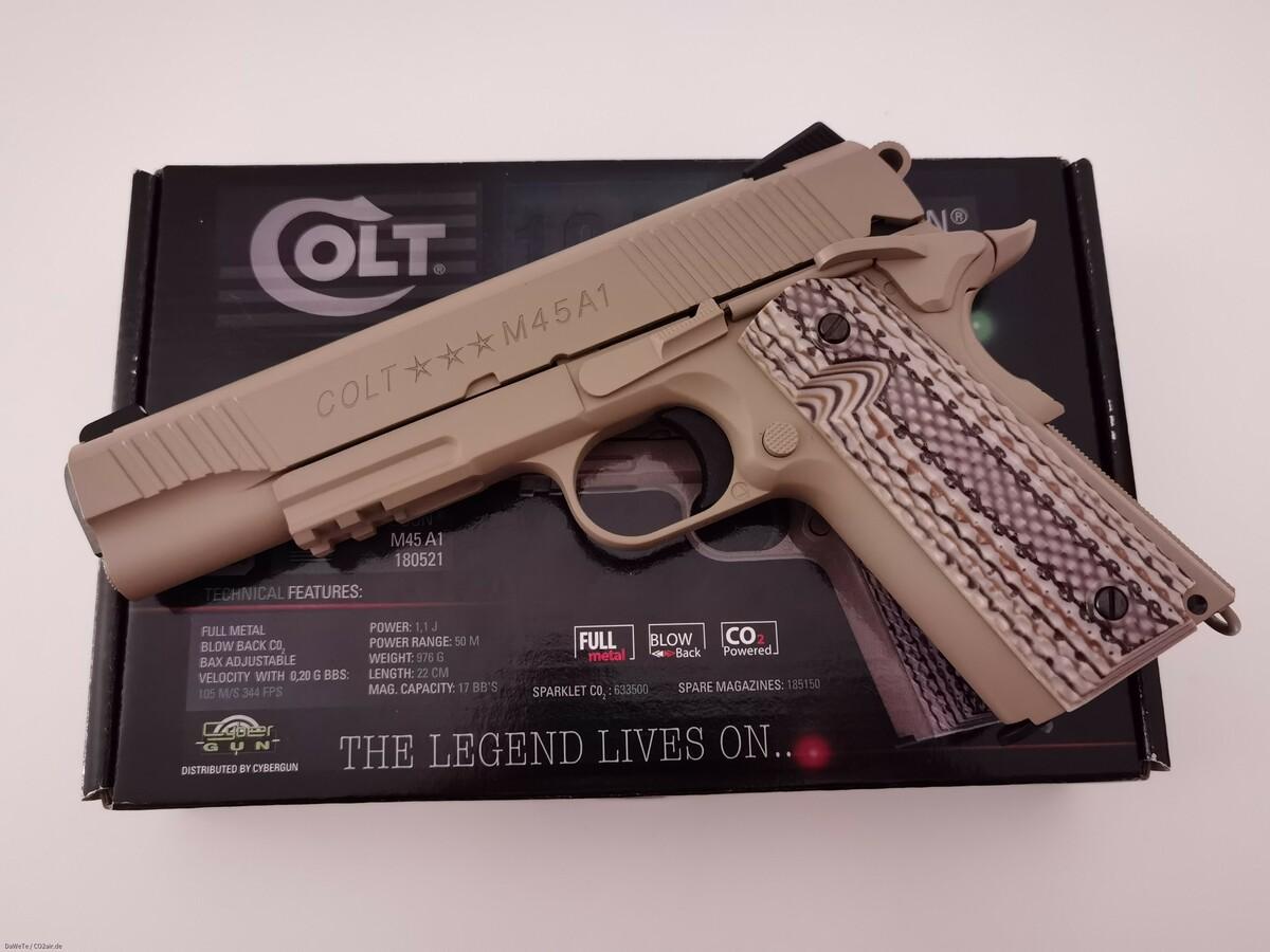 KWC Colt M45A1, CO2, 6mm BB
