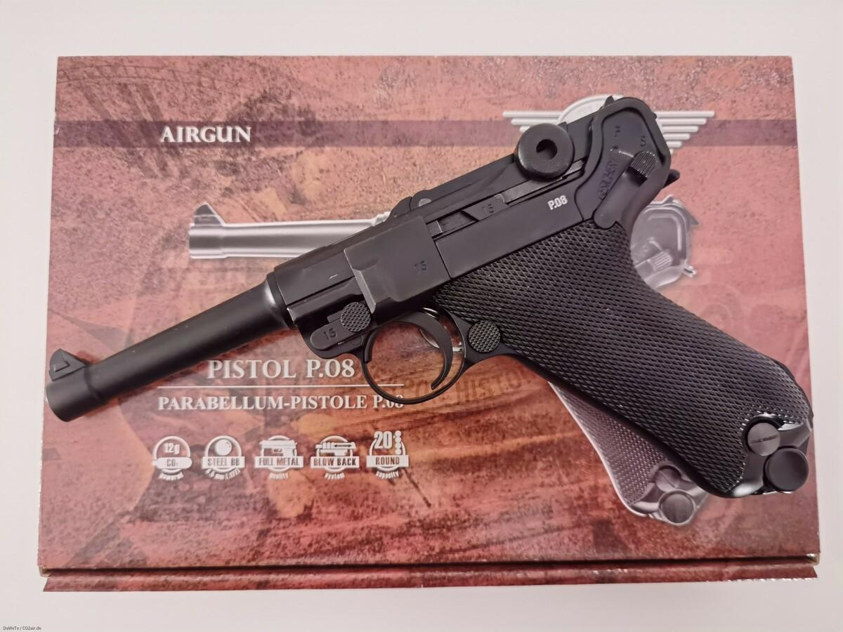 KWC Legends Mauser P08, CO2, 4,5mm BB