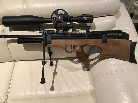 Die Steyr Pro X von der anderen Seite ... toller Schaft, gute Proportionen und angenehmes Schussverhalten