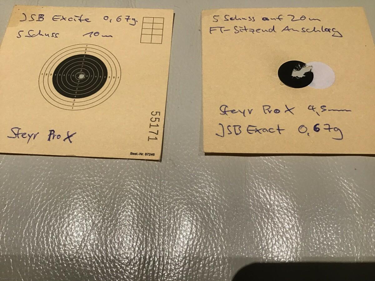 Steyr Pro X in 4,5mm F - unglaublich präzise ...