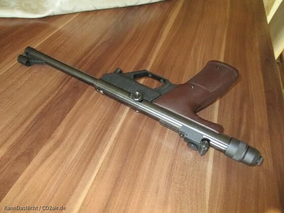 Hämmerli Master Co2 Matchpistole mit automatischem Druckablass bei geringer Co2 Restmenge.