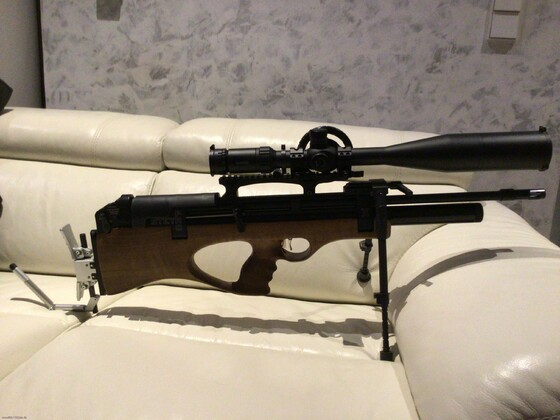 Eine ungewöhnliche Field Target Waffe: Steyr Pro X, 4,5mm, F Version mit Hawke 8-32x56 und Hakenkappe