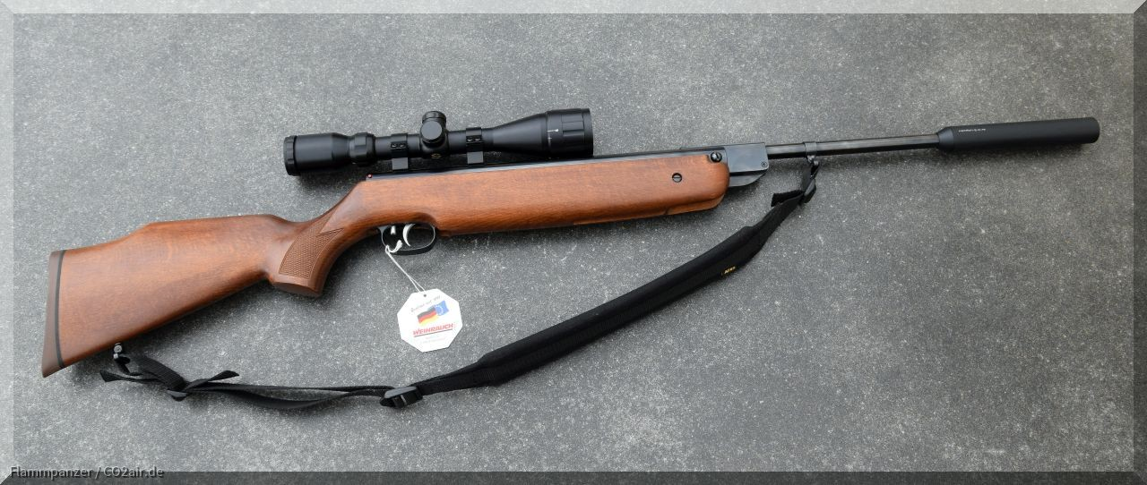Weihrauch HW 80k Luftgewehr .177 4,5mm Knicker mit Schalldämpfer