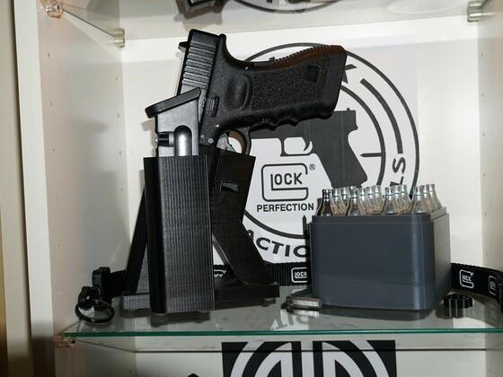 Glock 17 Diabolo mit 3D Druck Halterung