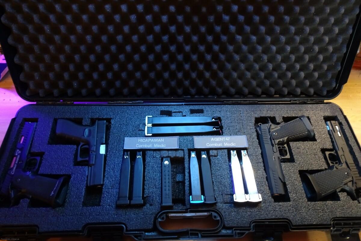 Hi Capa und Glock Pistolenkoffer, groß