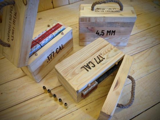 Ladehülsen: Kleine Munitionskisten