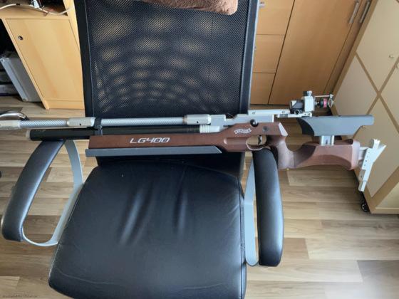 LG400 Auflage Holzschaft auf 5430g erschwert