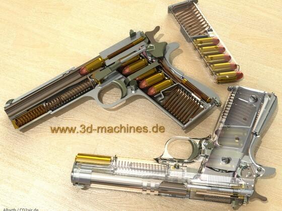 Colt 1911A1 Schnitt + transparent