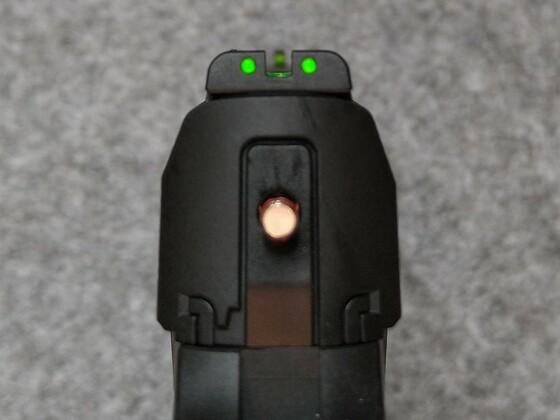 umarex T4E HDP 50 - Kimme und Korn mit Lichtsammler