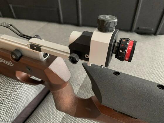 Walther Sport Diopter mit Centra 06,-3,0 Irisblende und Farbfilter