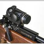 Hawke RedDot, Typ 12104, 3 MOA. Montiert auf eine Steyr H 5. Slottmann Adapter 11mm auf Weaver mit 25 MOA Vorneigung.