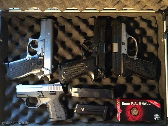 Meine Gas- und Signalpistolen