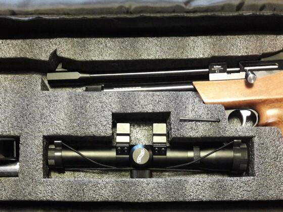 Diana Airbug mit Walther PZF 2X20 und hohen Umarex Montagen