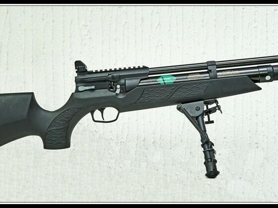 HW 110 ST Carbine, Sondermodell von Schlottmann, offene Viiserung von UTC, Harris Zweibein