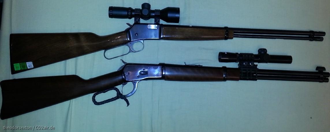 Großer Bruder Rossi Puma in .357 mag und kleine Schwester Miroku Anschütz BL 22 in .22l.r.