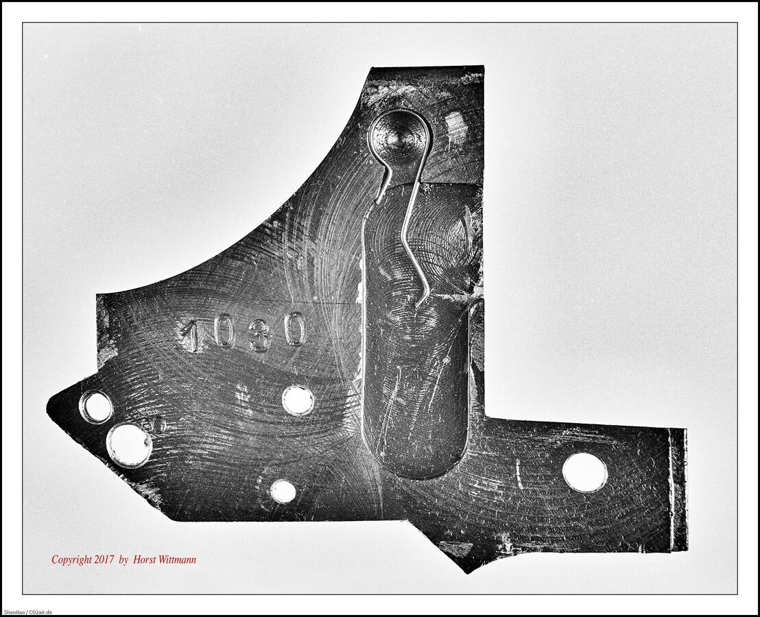 Korth Revolver cal. 9mm R.K.  -  Innenseite der Schlossplatte