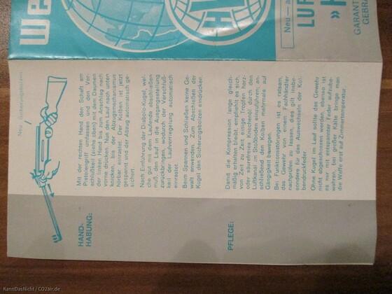 Zubehör welches einer HW 35 beilag. Von 1979.