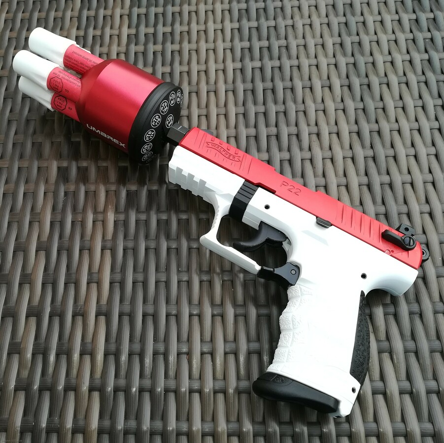 Walther P 22 Q Team Edition weiß-rot