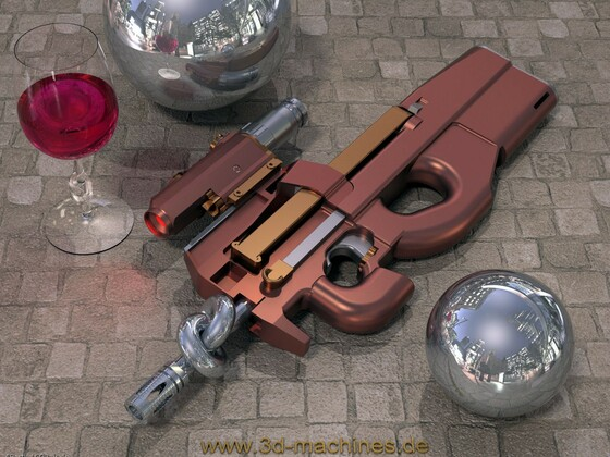 FN-P90 Red Wine Edition