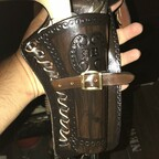 Colt SAA Gold/Nickel Edition 7,5 Zoll im Holster