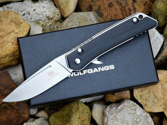 Wolfgang`s Zweihandmesser D2 Stahl Messer EDC Klappmesser
