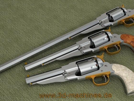 Remington 1858 in 3 verschiedenen Längen