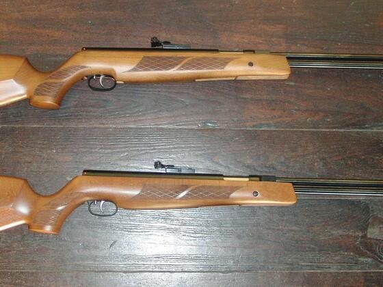 2x Weihrauch HW77 4,5mm + 6,3mm