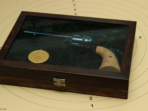 CO2 SAA Colt Schatulle im used look wegen Faulheit ,aber auch abschließbar.