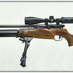 """BSA R-10 SE, Schalldämpfer von BSA, Hawke ZF #13130,  """"Airmax""""  4-12X40 AO, Harris Bi-pod (Nachbau)"""