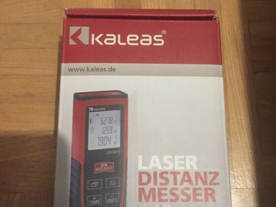 """Laser - Ideal für """"Abstandsmessungen"""" zur Scheibe, habe diesen Privat für Kücheneinbauten verwendet"""