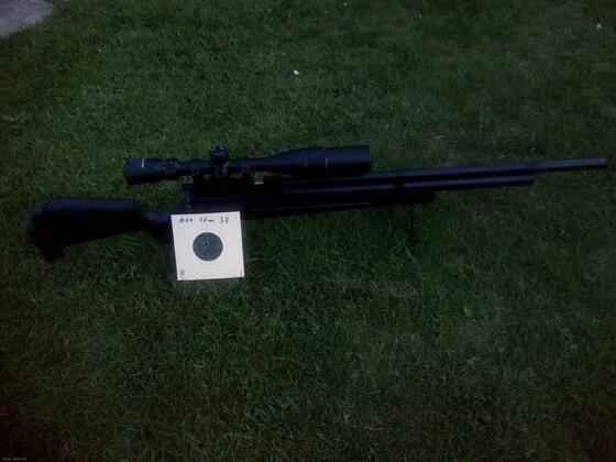 GSG M11 Schwarz und 50m Trefferbild